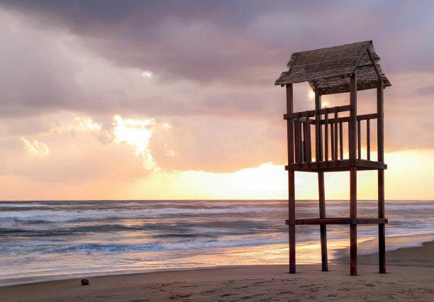 海滩景点图
